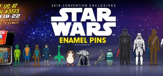 Gentle Giant SDCC exclusive Enamel Pins