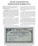 State Taxation of Harvested Marijuana