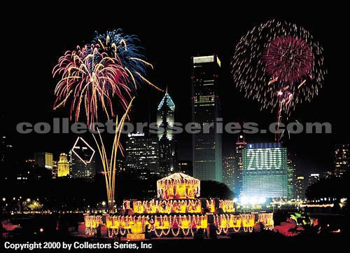 Chicago s Buckingham Fountain on New Year s Eve  12 31 99     Chicago s Buckingham Fountain on New Year s Eve  12 31 99   Collectors  Series