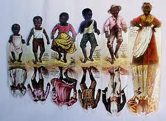 Paper dolls of Aunt Jemima and her family were printed on pancake mix boxes starting in 1895.