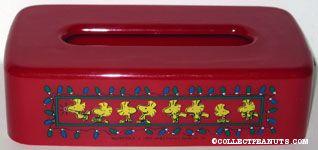 Woodstocks & Christmas lights Tissue Box Cover