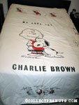 Snoopy hugging Charlie Brown Bedspread