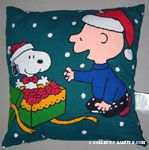 Charlie brown Opening Snoopy Present
