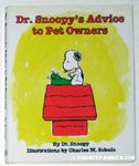 Dr. Snoopy's Advice to Pet Owners