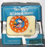 Snoopy Flying Ace & Woodstock on doghouse Alarm Clock