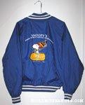 Snoopy holding hockey stick & bag 'Snoopy's Senior World Hockey Tournament 10th Anniversary' Blue Jacket