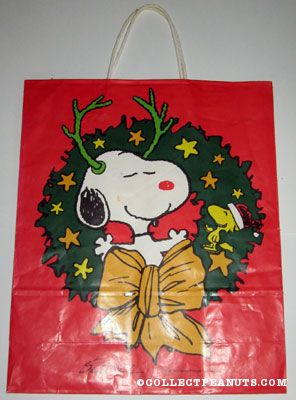Cute Snoopy Folding Shopping Bag Eco-friendly Blue Large Capacity Easy to Carry