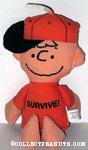 Charlie Brown 'Survive' Bean Bag Doll
