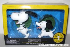 Snoopy Then And Now Figurine Set