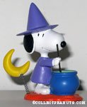 Witch Snoopy and moon with caldron spring figurine
