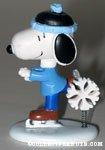 Snoopy skating with snowflake spring figurine