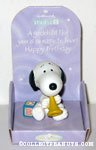 Snoopy with trumpet & blocks 'Godchild' Figurine