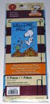 Snoopy & Woodstock jumping into leaves 'Welcome Fall' Flag