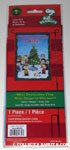 Peanuts Gang around Christmas Tree 'Christmastime is here..' Flag