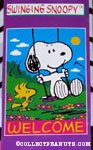 Snoopy & Woodstock 'Swinging Snoopy' Flag