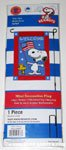 Snoopy & Woodstock holding American flags 'Welcome' Mini Flag