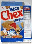 Charlie Brown & Lucy Muddy Buddies Recipe Rice Chex Box