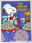 Snoopy & Woodstock eating in theater 'Someone Special' Greeting Card