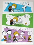 Snoopy dancing on piano Greeting Card