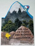 Snoopy & Woodstock mountain climbing Greeting Card