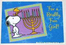 Snoopy & Woodstock Hanukah Greeting Card