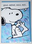 Snoopy holding toes Greeting Card