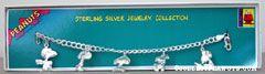 Snoopy Personalities Sterling Silver Bracelet