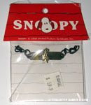 Snoopy laying on star under crown Bracelet