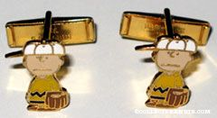 Charlie Brown baseball player Cufflinks