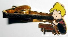 Schroeder playing piano Cloisonne Tie Clip