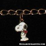 Snoopy holding heart Charm Bracelet