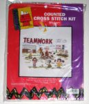 Peanuts Gang playing Baseball Cross-stitch Kit
