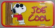 Joe Cool Car License Plate