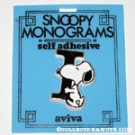 Snoopy with letter I Plastic Monogram