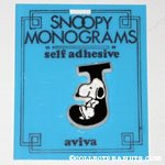 Snoopy with letter J Plastic Monogram