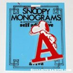 Snoopy with letter A Plastic Monogram