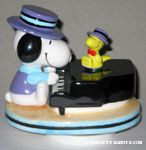 Snoopy at Piano with Woodstock