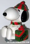 Snoopy sitting with gift box Musical