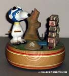 Flying Ace, wood Musicbox