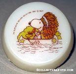 Native American Snoopy & Woodstock in Canoe Nightlight