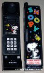 Snoopy and Woodstock with phones Black Phone Pencil Case