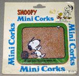 Snoopy playing Tennis Mini Cork Board