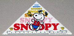 Snoopy & Woodstocks dancing Trianglar ruler