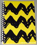 Charlie Brown Stripe Spiral Notebook