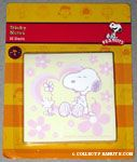Woodstock giving Snoopy a Flower Sticky Notes
