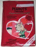 Charlie Brown holding heart Peppermint-Scented Classroom Valentines