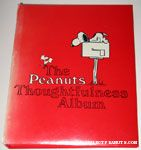 Snoopy laying on Doghouse 'Peanuts Thoughtfulness Album' Greeting Card Organizer