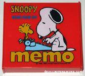 Snoopy & Woodstock at typewrite 'Snoopy Mini Pick-up Memo' Memo Pad