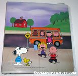 Peanuts Gang getting off bus Binder