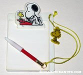 Snoopy and Woodstock at Typewriter Clipboard with attached pencil and Woodstock charm
